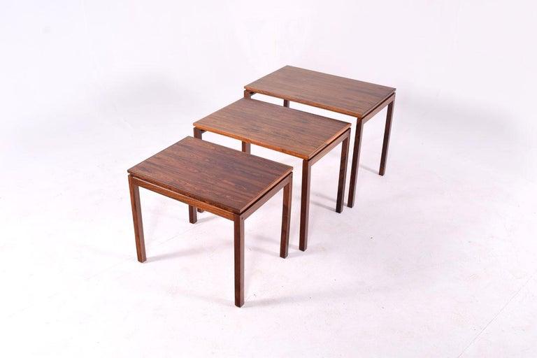 Danish Modern Rosewood Nesting Tables by Fabian 7