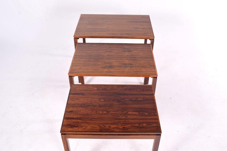 Danish Modern Rosewood Nesting Tables by Fabian 8