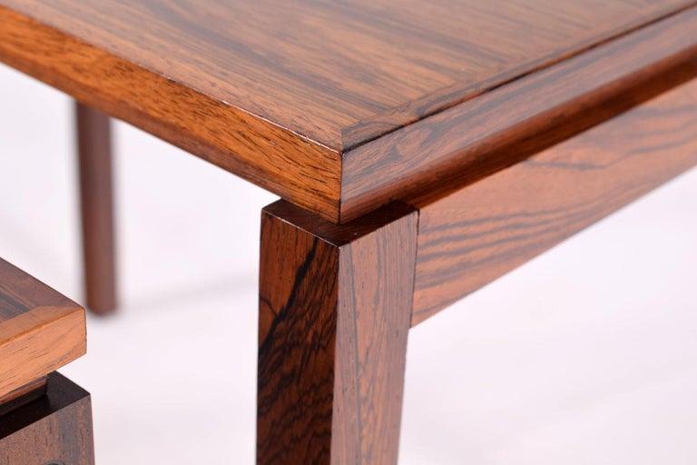 Danish Modern Rosewood Nesting Tables by Fabian 9