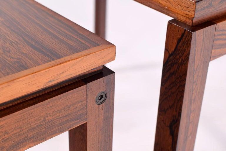 Danish Modern Rosewood Nesting Tables by Fabian 10