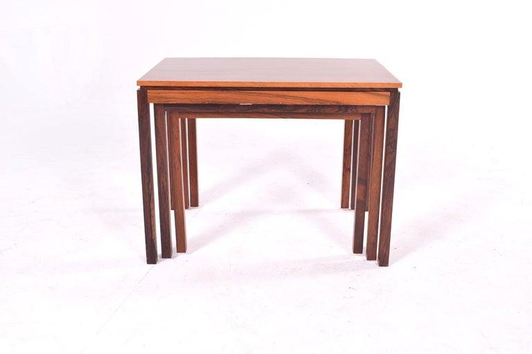 Danish Modern Rosewood Nesting Tables by Fabian 11