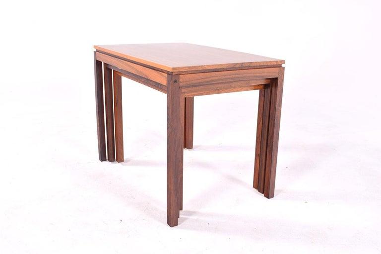 Danish Modern Rosewood Nesting Tables by Fabian 12