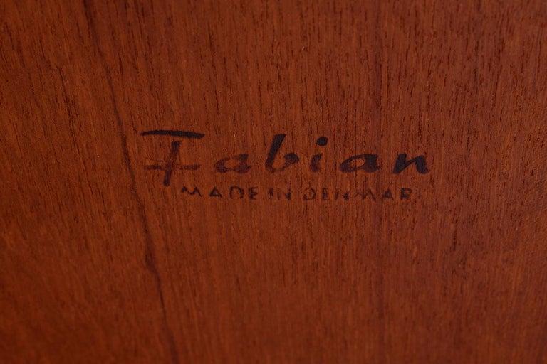 Danish Modern Rosewood Nesting Tables by Fabian 13