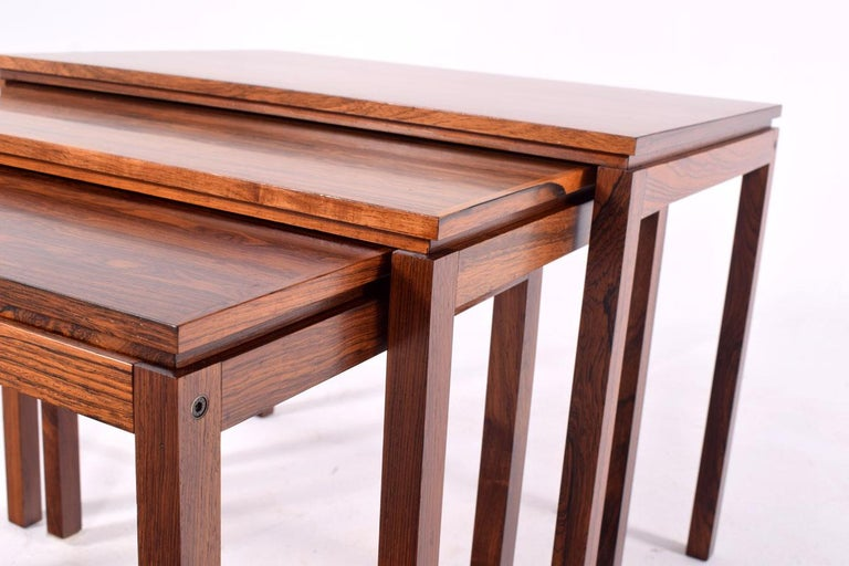 Danish Modern Rosewood Nesting Tables by Fabian In Good Condition In Lisboa, Lisboa