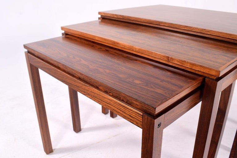 Mid-20th Century Danish Modern Rosewood Nesting Tables by Fabian