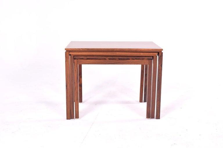 Danish Modern Rosewood Nesting Tables by Fabian 1