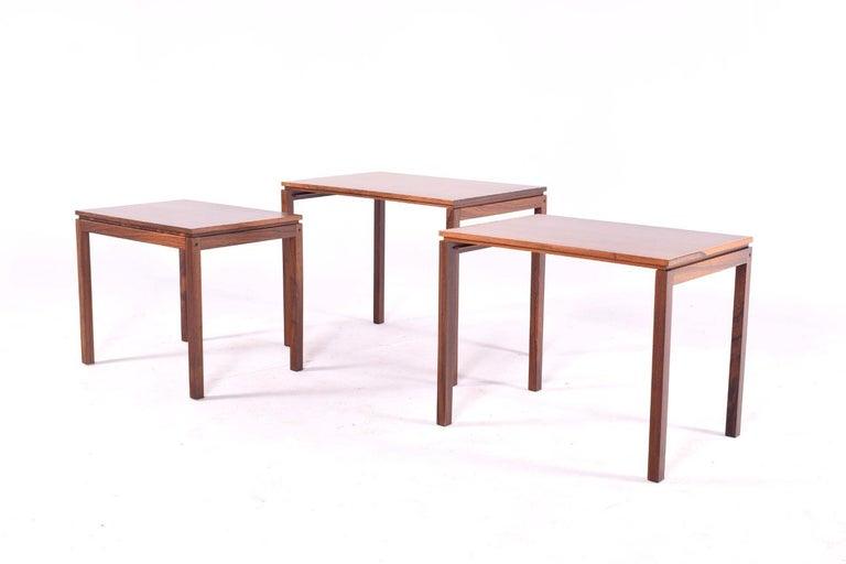 Danish Modern Rosewood Nesting Tables by Fabian 3