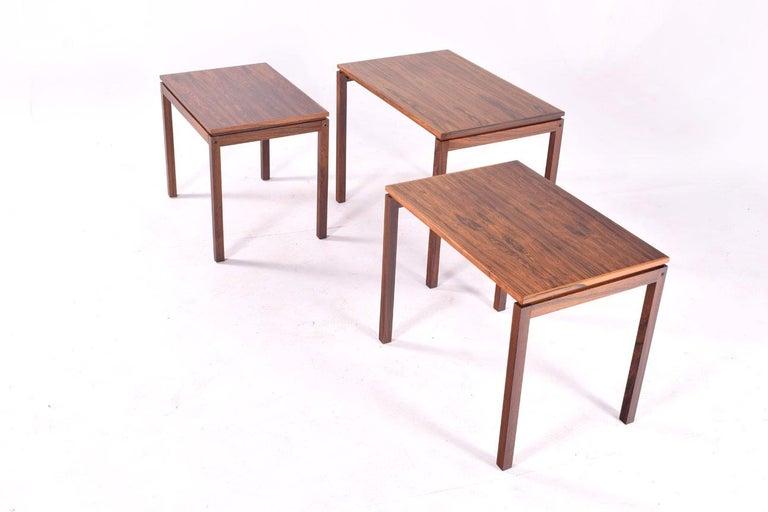 Danish Modern Rosewood Nesting Tables by Fabian 4