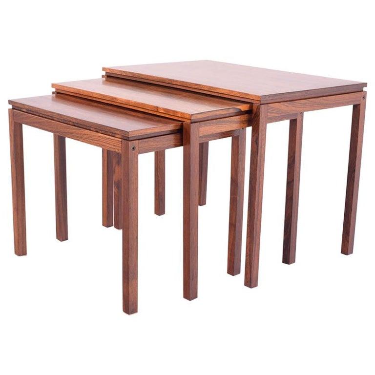 Danish Modern Rosewood Nesting Tables by Fabian