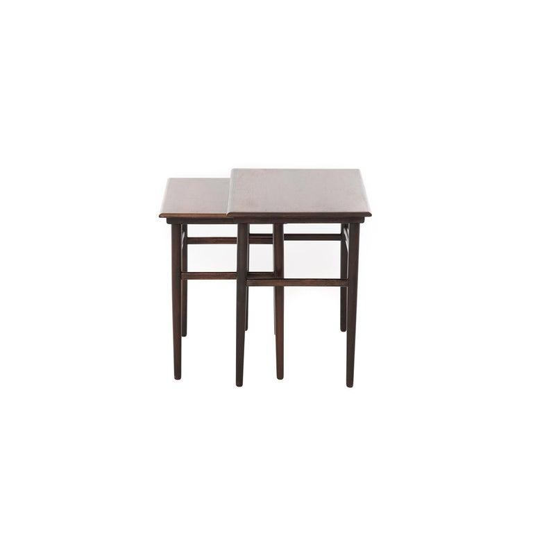 Scandinavian Modern Danish Modern Rosewood Nesting Tables For Sale