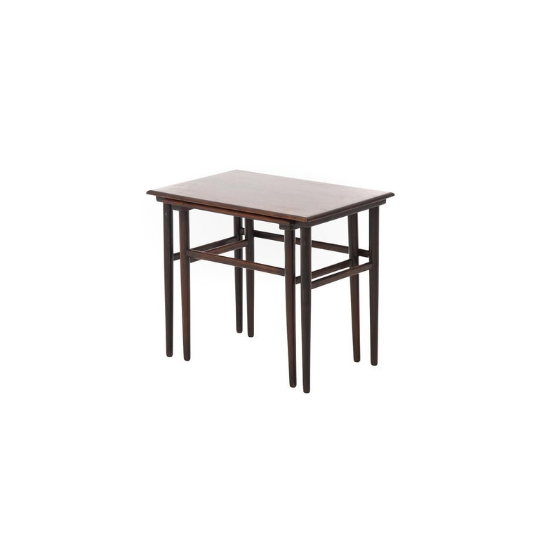 20th Century Danish Modern Rosewood Nesting Tables For Sale