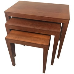 Danish Modern Rosewood Nesting Tables