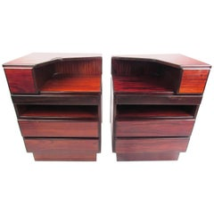 Danish Modern Rosewood Nightstands by Scan Coll