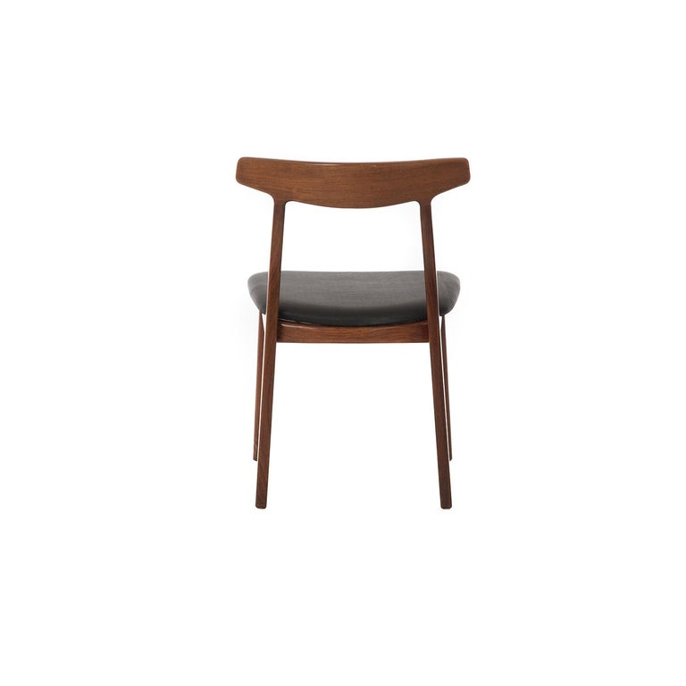 Lacquered Danish Modern Rosewood Side Chair For Sale