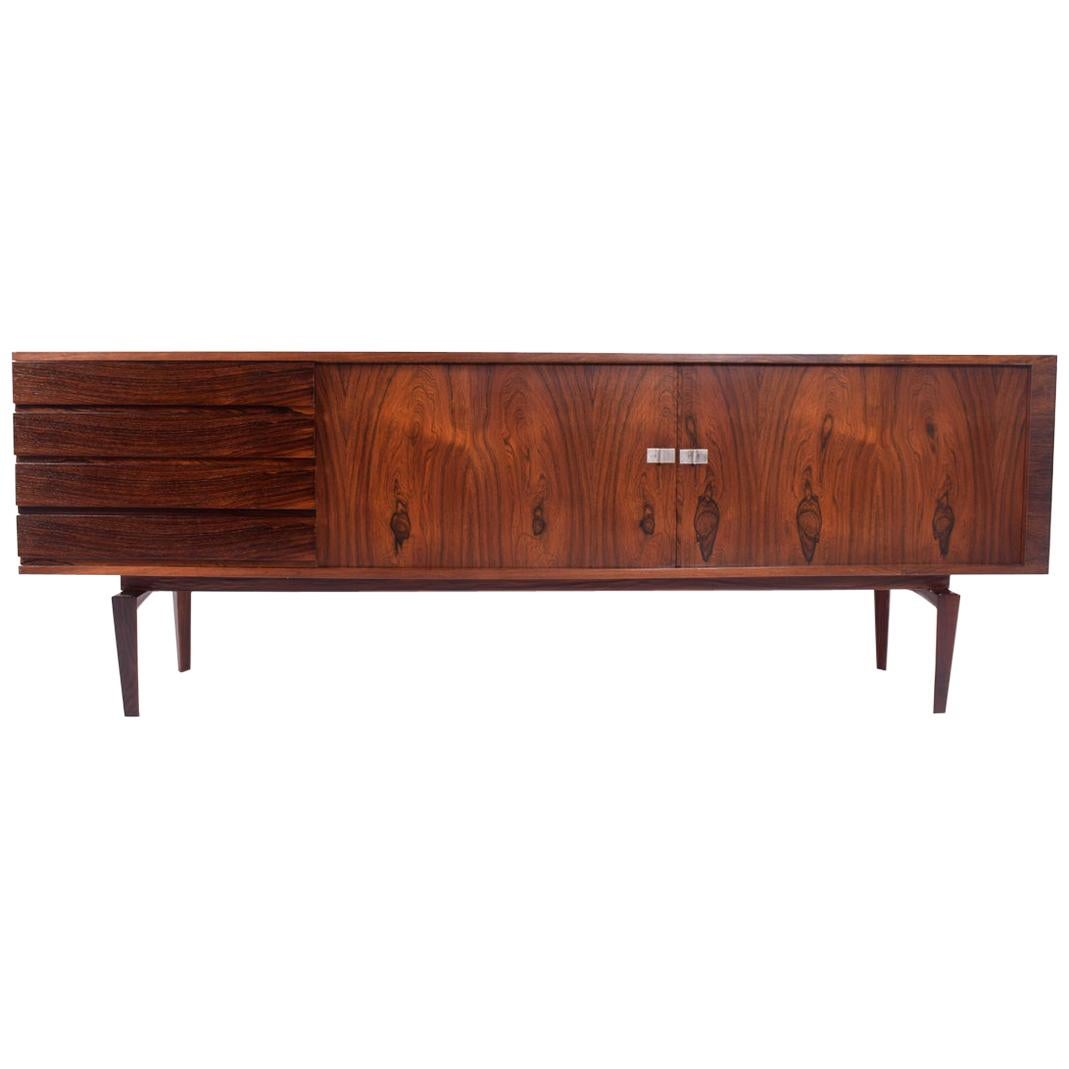 Danish Modern Rosewood Sideboard by H.W. Klein for Bramin, 1960s