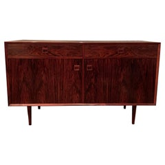 Danish Modern Rosewood Sideboard Credenza by E. Brouer for Brouer Møbelfabrik