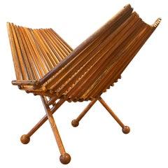 Danish Modern Rosewood Spindle Napkin Holder