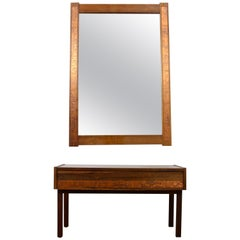 Danish Modern Rosewood Wall Mirror Set 1960s