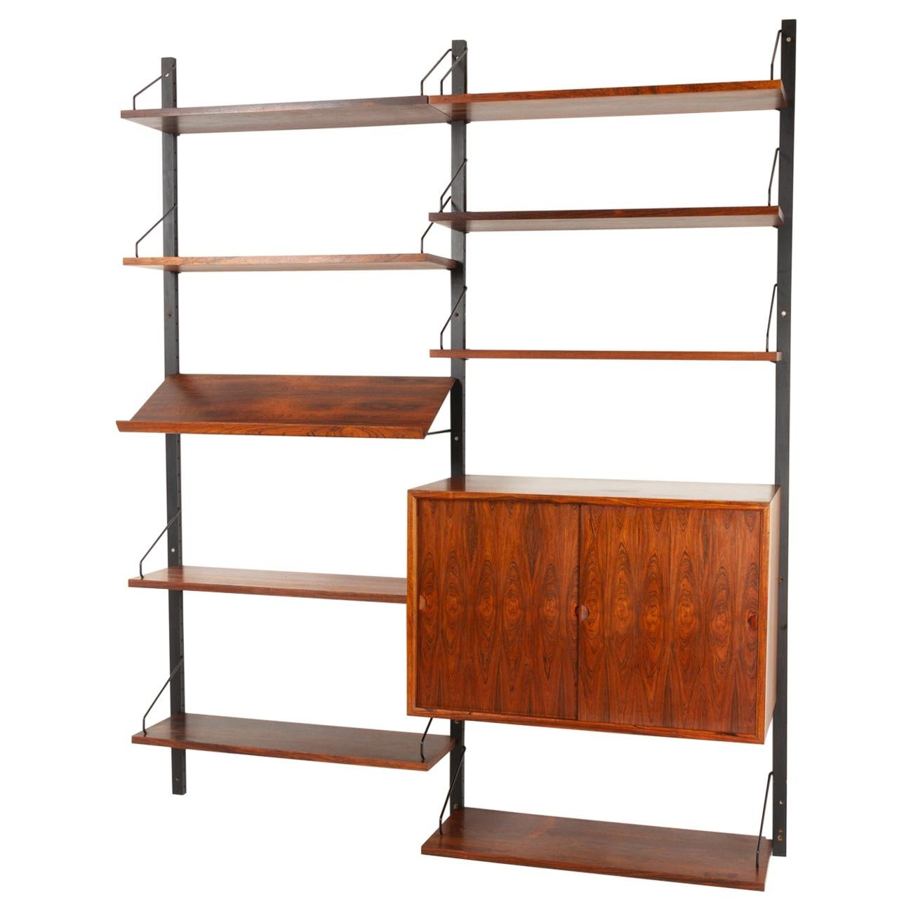 Danish Modern Rosewood Wall Unit by Poul Cadovius for Cado 1960s