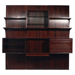 Danish Modern Rosewood Wall Unit or Bookcase by Cado