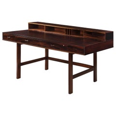 Danish Modern Rosewood Writing Desk by Peter Lovig Nielsen, circa 1972