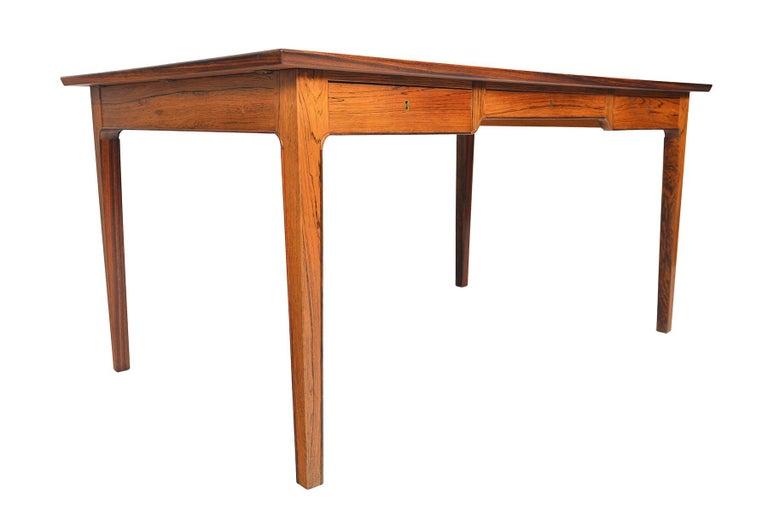 20th Century Danish Modern Rosewood Writing Desk in the Manner of Fritz Henningsen For Sale