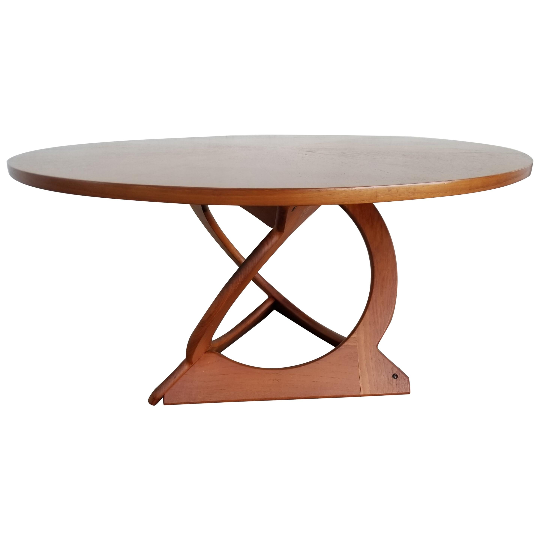 Soren Georg Jensen Danish Modern Round Coffee / Side Table