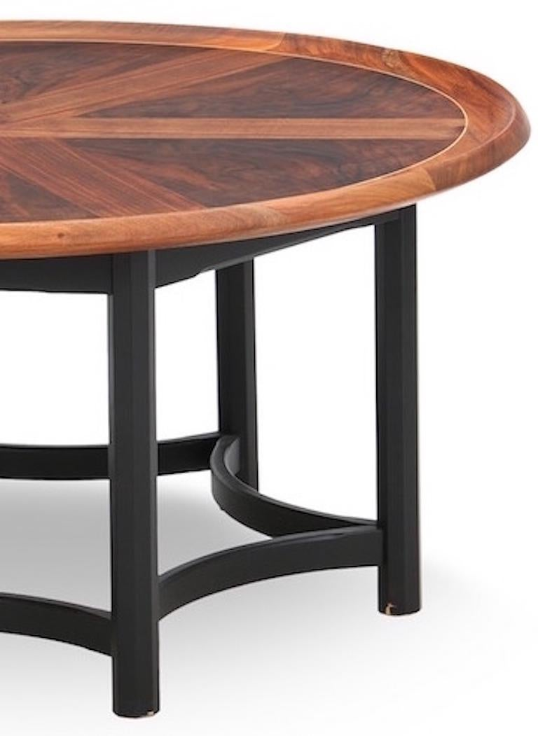 Danish Modern Round Coffee Table In Good Condition For Sale In Hudson, NY