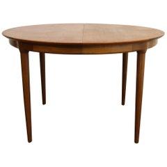 Danish Modern Round Extendable  Teak Table