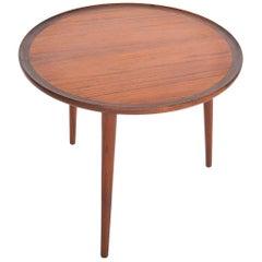 Danish Modern Round Teak Side Table