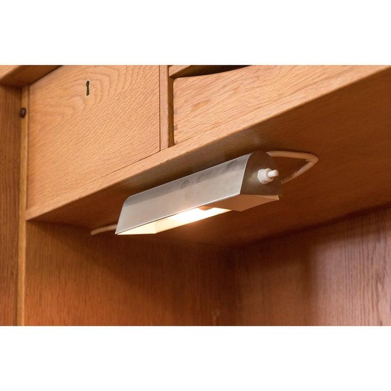 Danish Modern RY100 Murphy Bed, Desk & Shelving System by Hans J Wegner for Ry For Sale 3