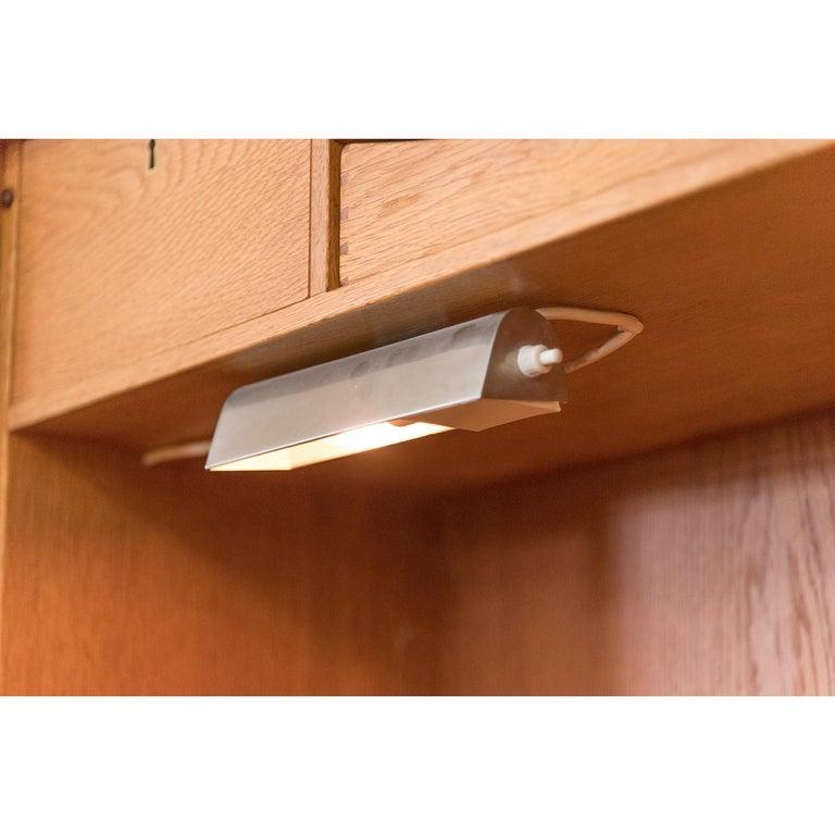 Danish Modern RY100 Murphy Bed, Desk & Shelving System by Hans J Wegner for Ry For Sale 4