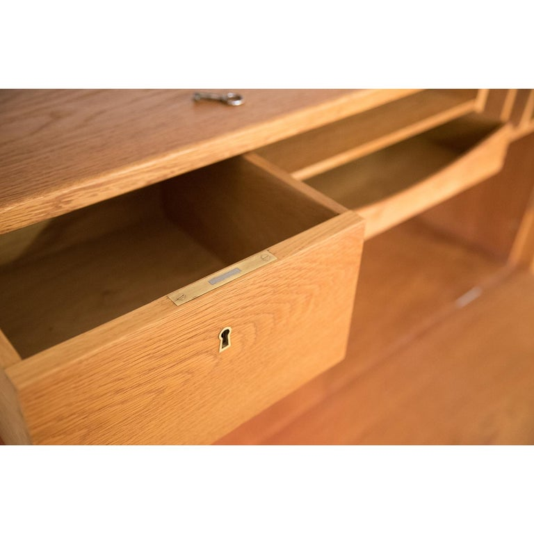 Danish Modern RY100 Murphy Bed, Desk & Shelving System by Hans J Wegner for Ry For Sale 8