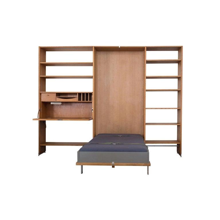 Scandinavian Modern Danish Modern RY100 Murphy Bed, Desk & Shelving System by Hans J Wegner for Ry For Sale