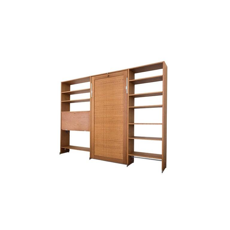 20th Century Danish Modern RY100 Murphy Bed, Desk & Shelving System by Hans J Wegner for Ry For Sale