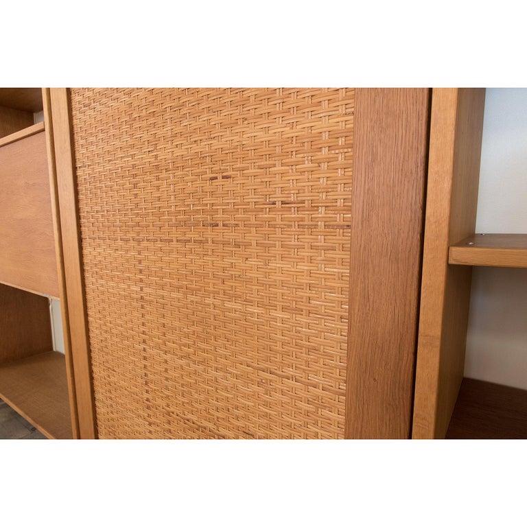 Oak Danish Modern RY100 Murphy Bed, Desk & Shelving System by Hans J Wegner for Ry For Sale