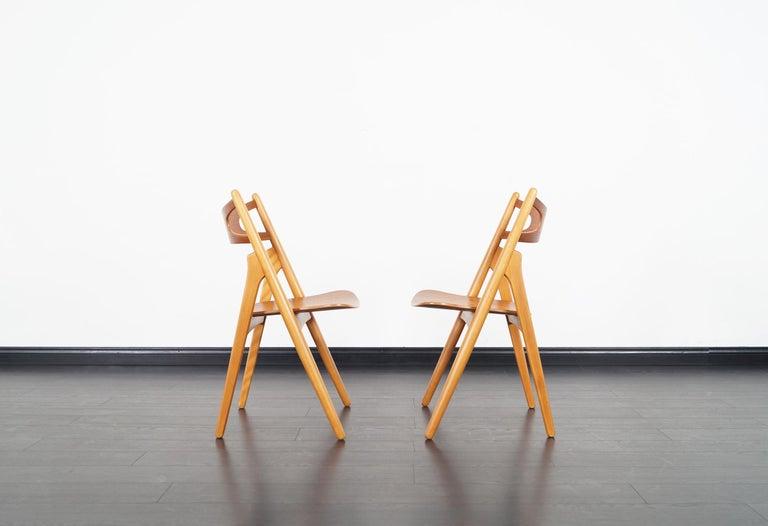 Danish Modern 'Sawbuck' CH-29 Dining Chairs by Hans J. Wegner For Sale 8