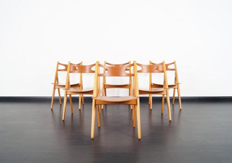 This amazing set of six Danish modern
