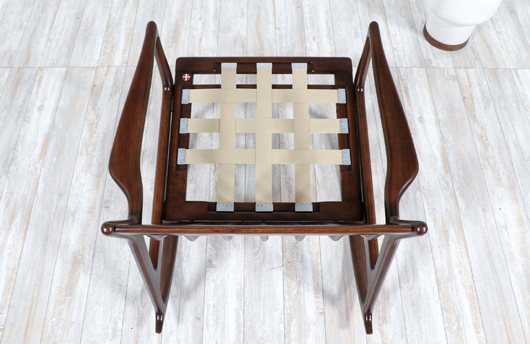 Wood Danish Modern Sculpted Rocking Chair by Ib Kofod-Larsen for Selig For Sale