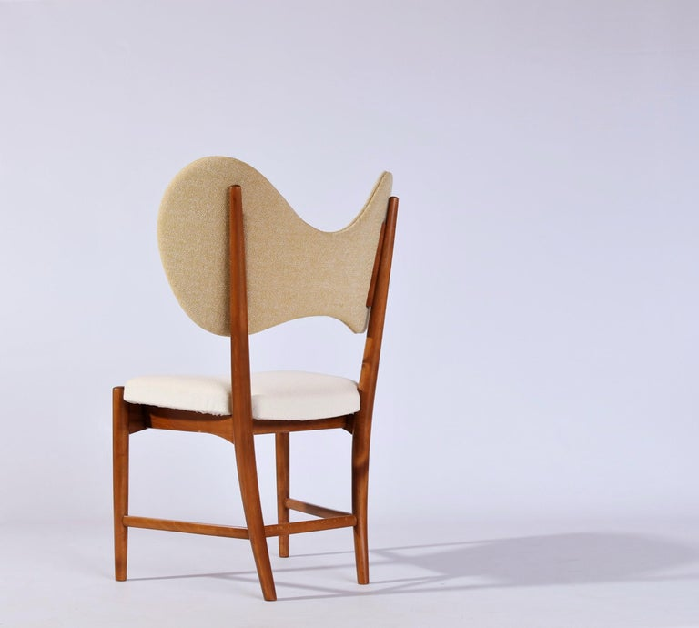 Gorgeous and very rare Danish design chair from the early 1950s by designers Eva & Nils Koppel. Made and manufactured in Denmark by