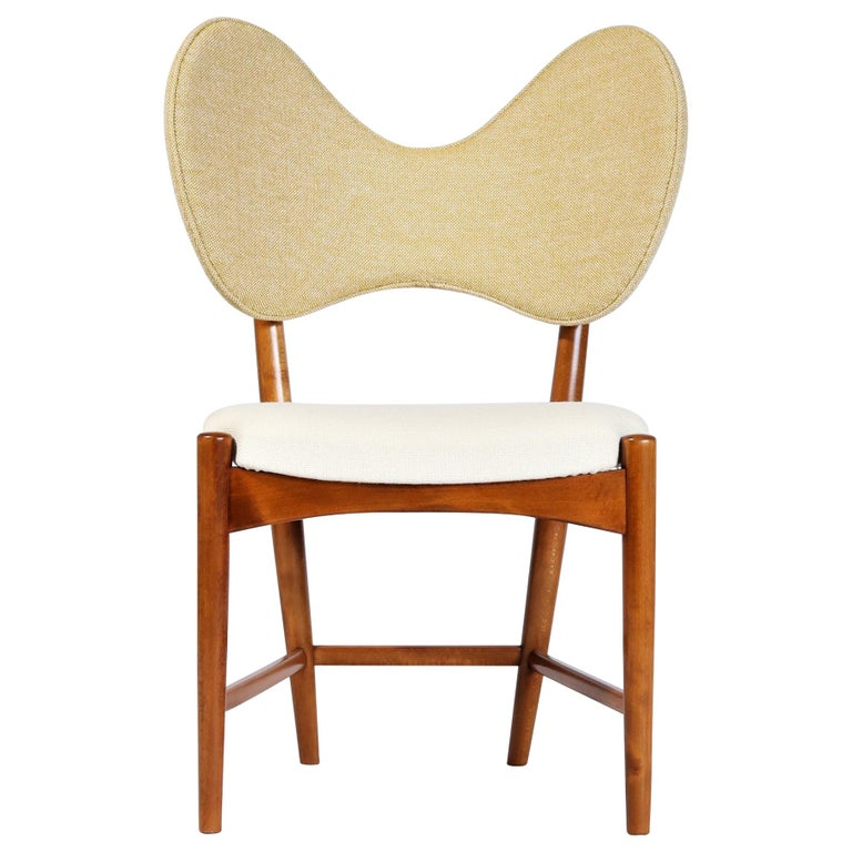 """Danish Modern Sculptural """"Butterfly"""" Chair by Eva & Nils Koppel, 1950s For Sale"""