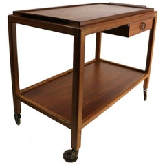 Danish Modern Serving Bar Tea Cart