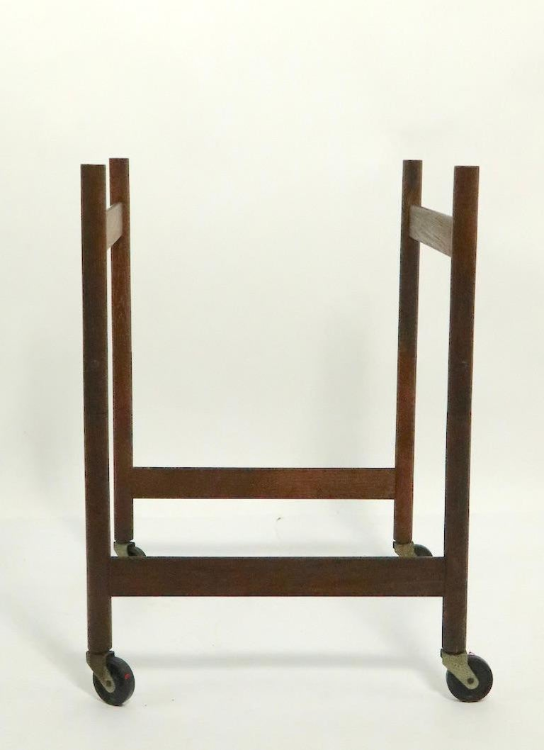 Scandinavian Modern Danish Modern Serving Cart by Hans Bolling for Torben Orskov For Sale