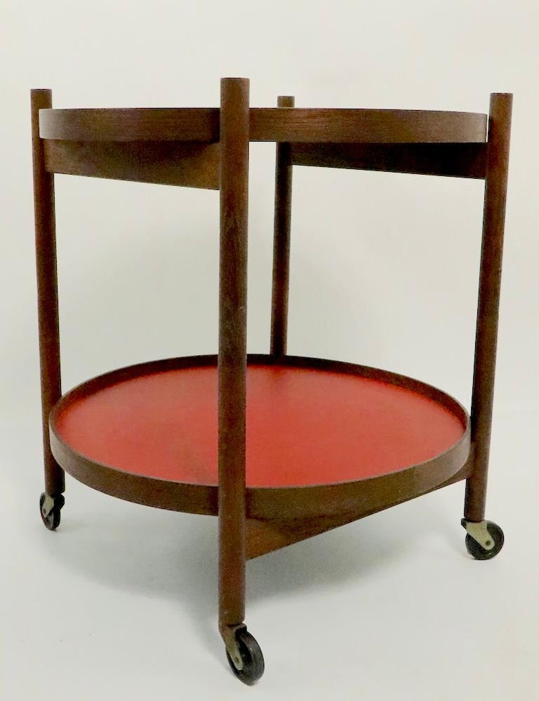 Danish Modern Serving Cart by Hans Bolling for Torben Orskov In Good Condition For Sale In New York, NY
