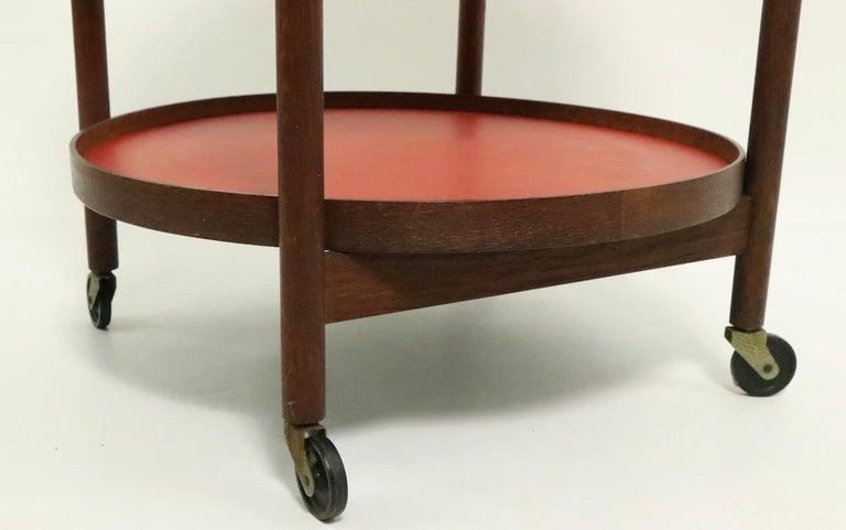 Laminate Danish Modern Serving Cart by Hans Bolling for Torben Orskov For Sale