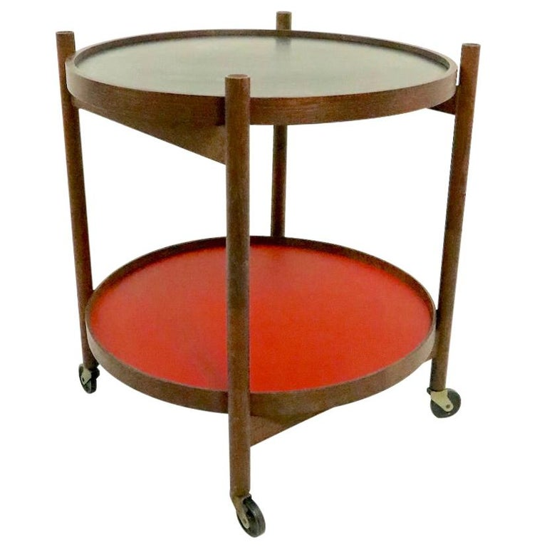 Danish Modern Serving Cart by Hans Bolling for Torben Orskov For Sale