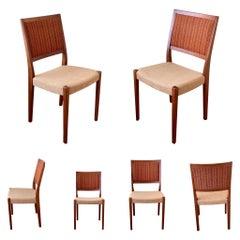 Danish Modern Set of 6 Svegards Markaryd Teak Dining Chairs