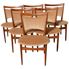 Danish Modern Set of 6 Teak SW68 Dining Chairs by Finn Juhl for Soren Willadsen
