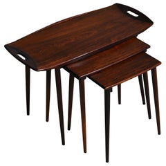 Danish Modern Set of Nesting Tables in Rosewood by I.H. Quistgaard, 1960s