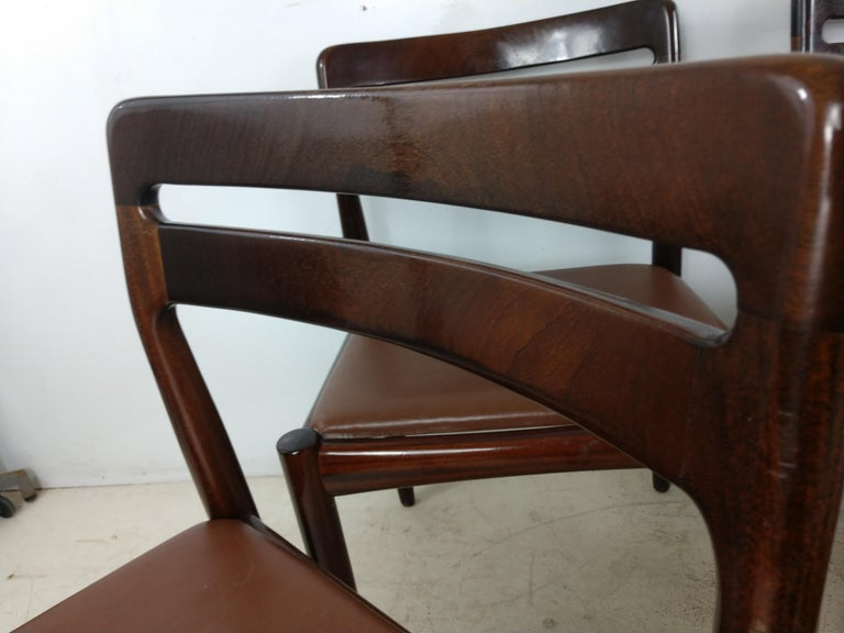 Danish Modern Set of Six Rosewood Dining Chairs H W Klein for Bramin For Sale 4